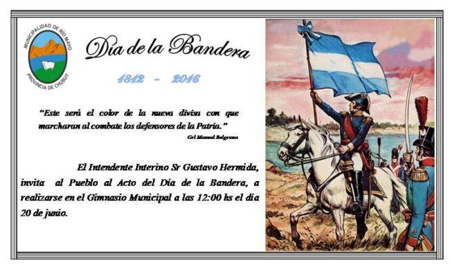 Tarjeta Dia de la Bandera