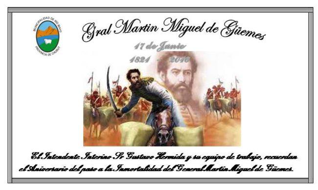 Tarjeta Dia del Grl Guemes