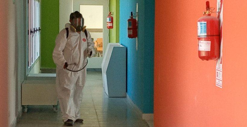 Desinfección de escuelas